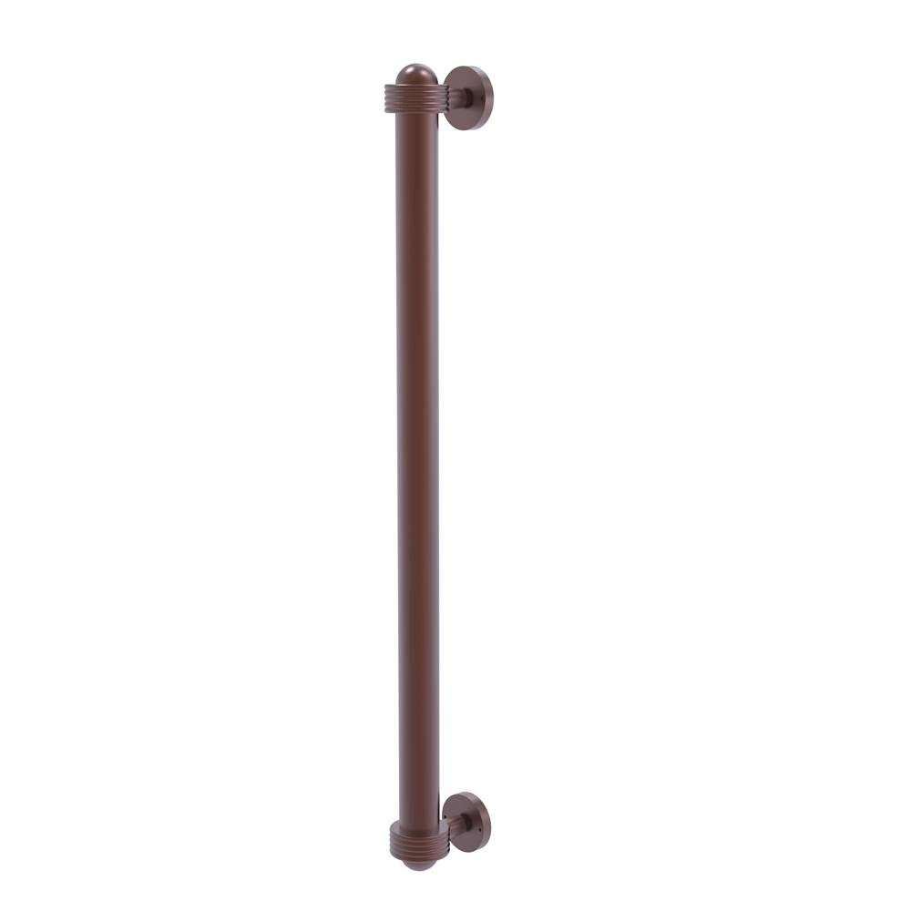 Allied Brass 402AG-RP-SN 18 Inch Refrigerator Pull with Groovy Accents Satin Nickel