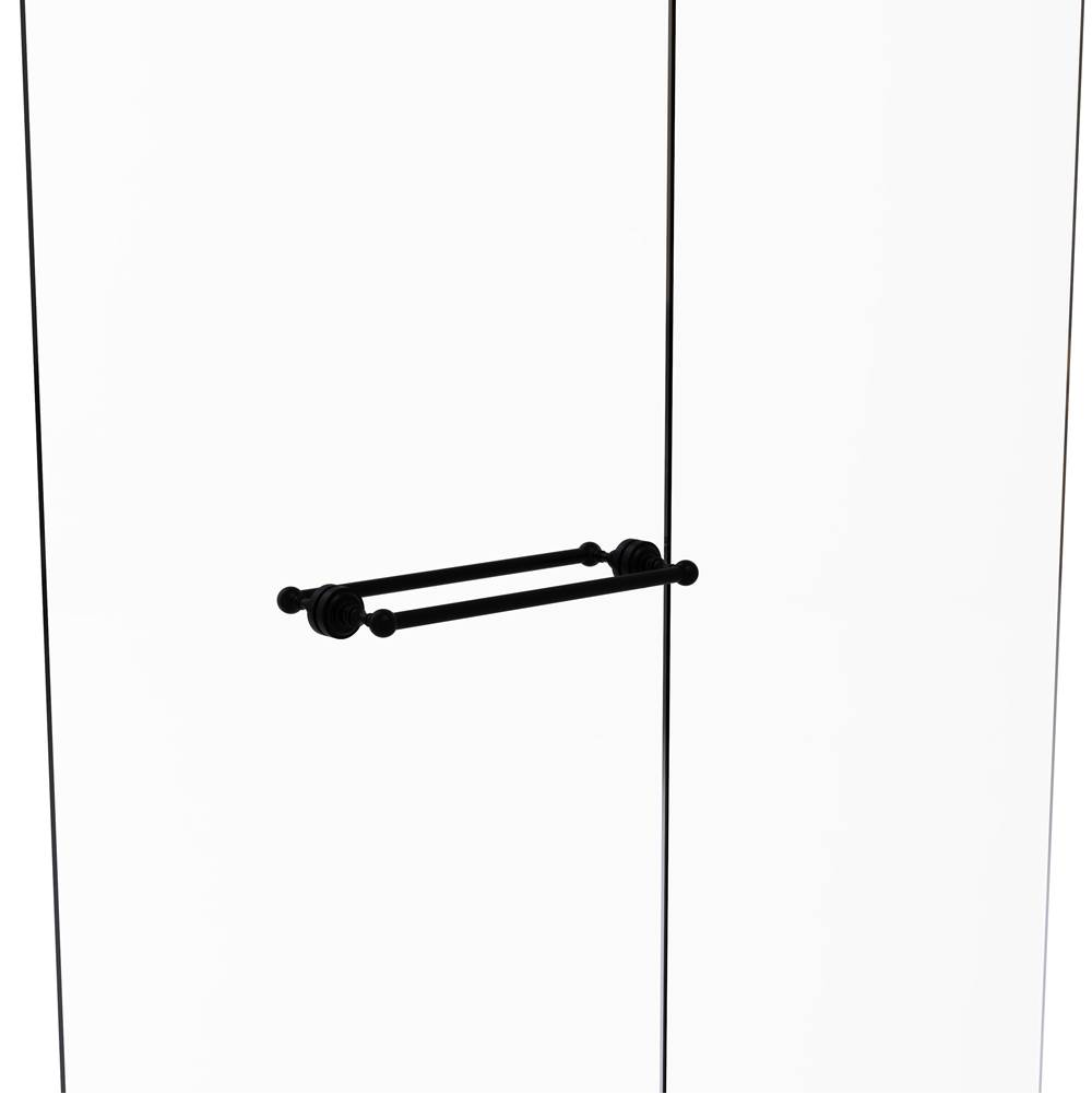 Allied Brass PB-41T-SM-18-PEW Pacific Beach Collection 18 Inch Shower Door Towel Bar with Twisted Accents Antique Pewter