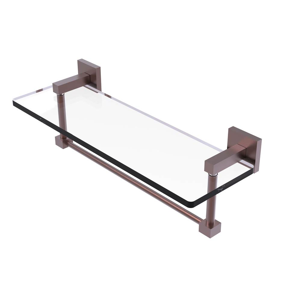 Allied Brass MT-1-16-PC Montero Collection 16 Inch Glass Vanity Shelf with Beveled Edges Polished Chrome