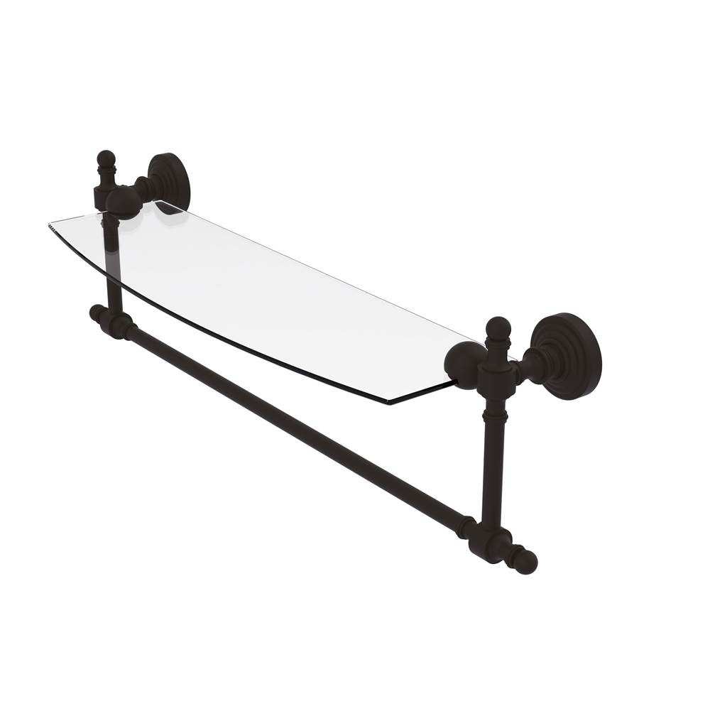 Allied Brass RW-72//24-VB Retro Wave Collection 24 Inch Double Towel Bar Venetian Bronze