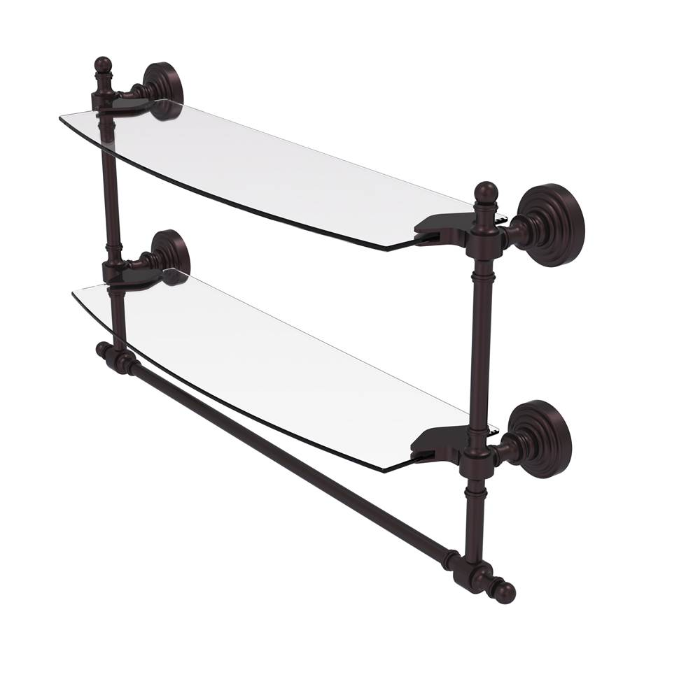 Allied Brass Rw 31 36 Bbr Retro Wave Collection 36 Inch Towel Bar Brushed Bronze Towel Bars