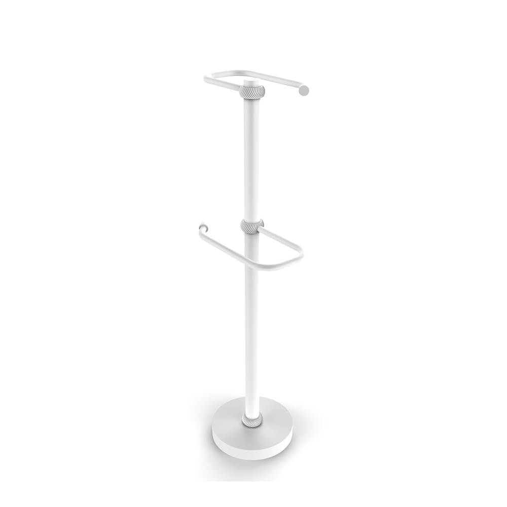 Allied Brass TS-26T-SCH Free Two Roll Toilet Tissue Stand Satin Chrome