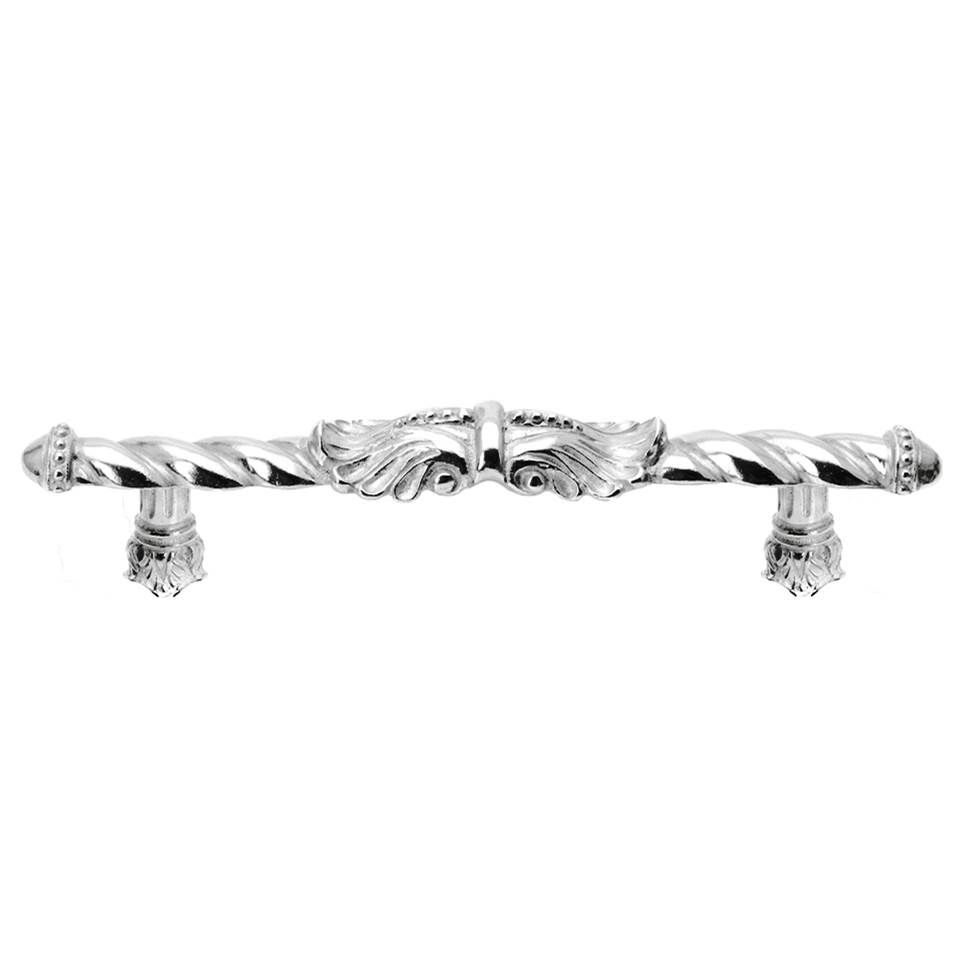 Platinum Carpe Diem Hardware 1065-24 Acanthus  with Knob with Feather Scroll