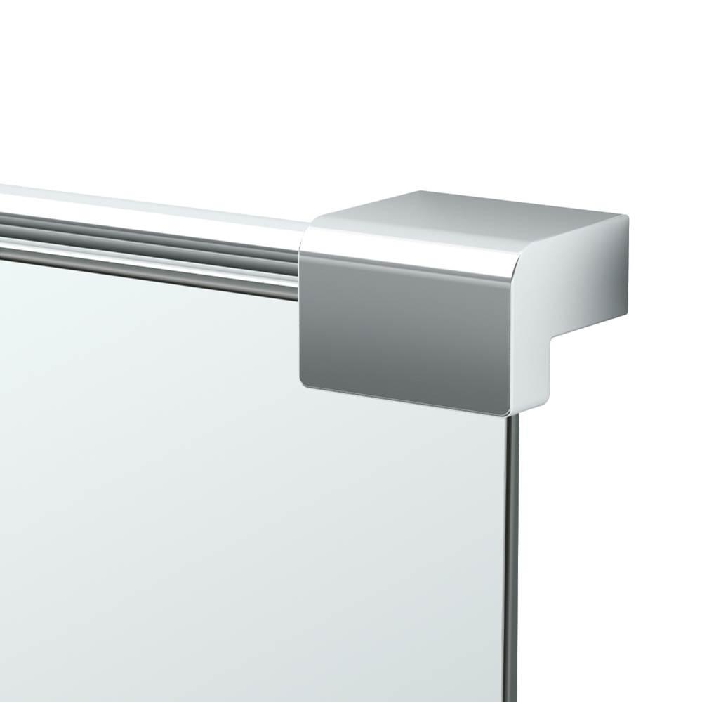 Allied Brass PMC-92-SN Frameless Rectangular Tilt Mirror with Beveled Edge Satin Nickel