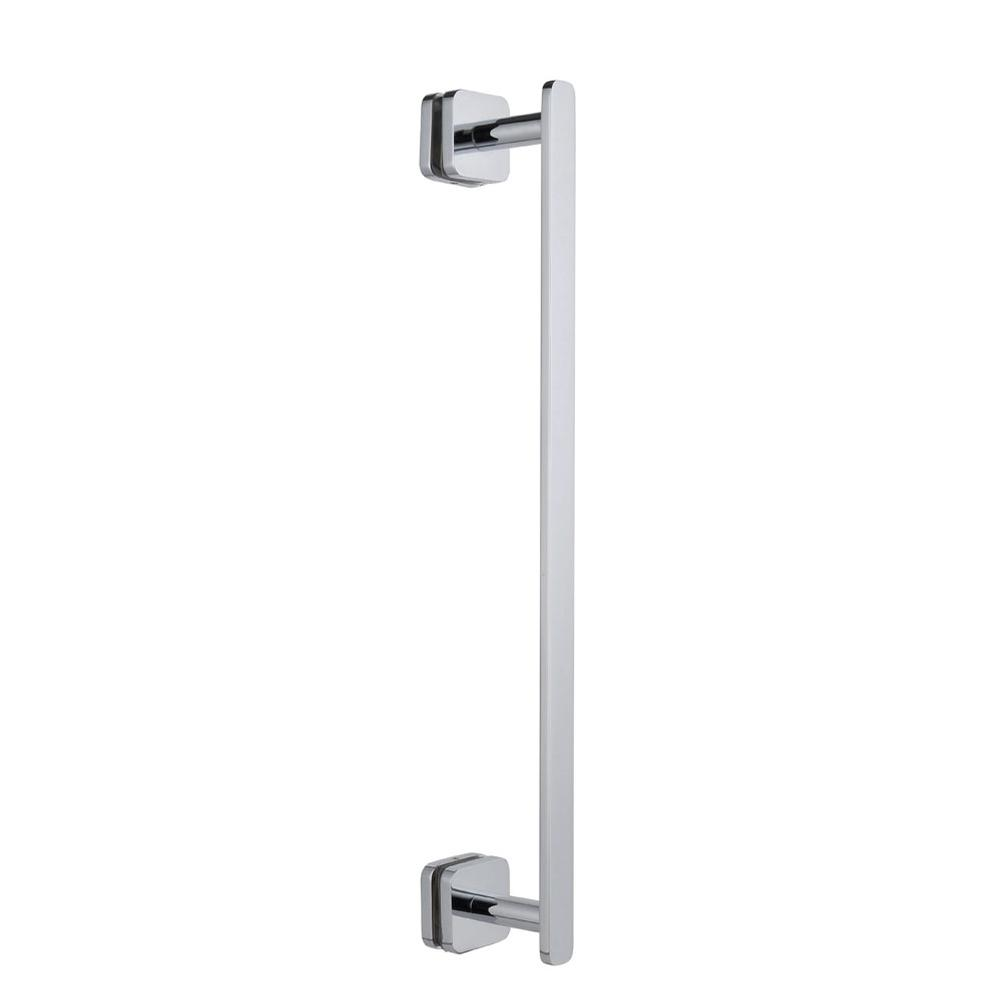 Jaclo H61-FM-16-PCH Reeded Front-Mount Shower Door Handle with End Caps Polished Chrome