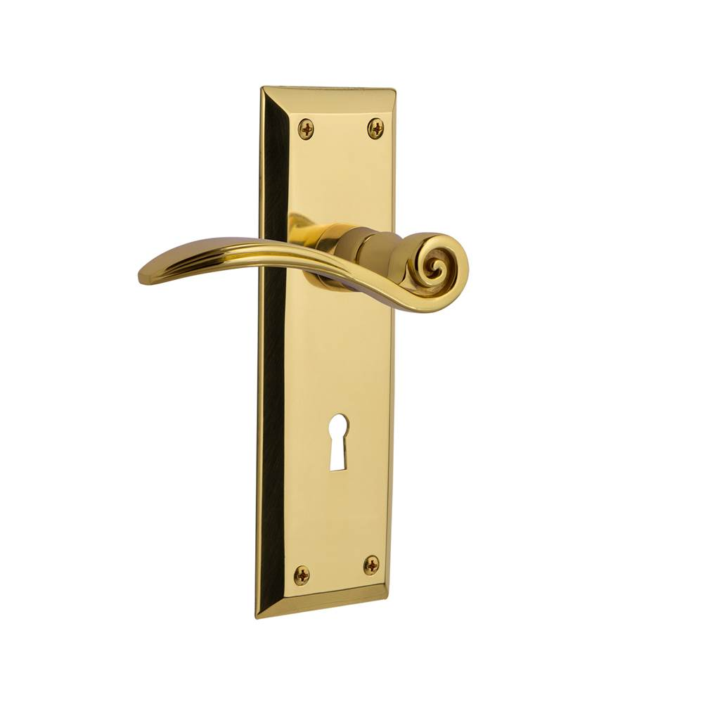 Grandeur 836656 Hardware Fifth Avenue Tall Plate Double Dummy with Newport Lever in Vintage Brass