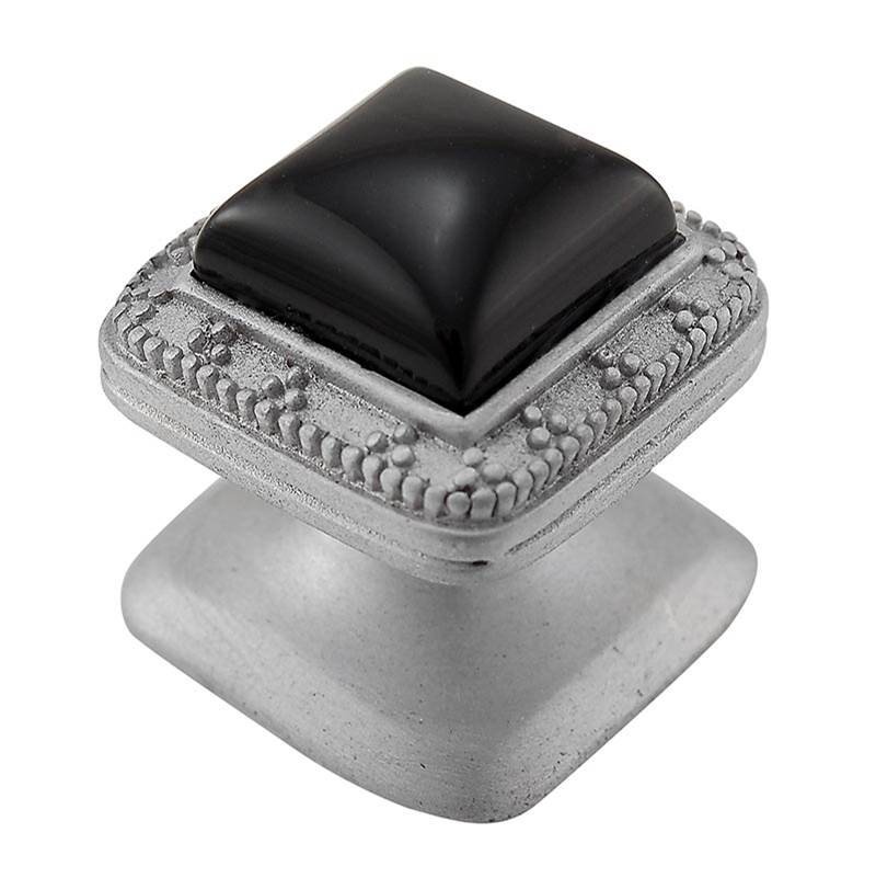 Small Polished Silver Vicenza Designs K1143-PEWT-PS Gioiello Glam Knob
