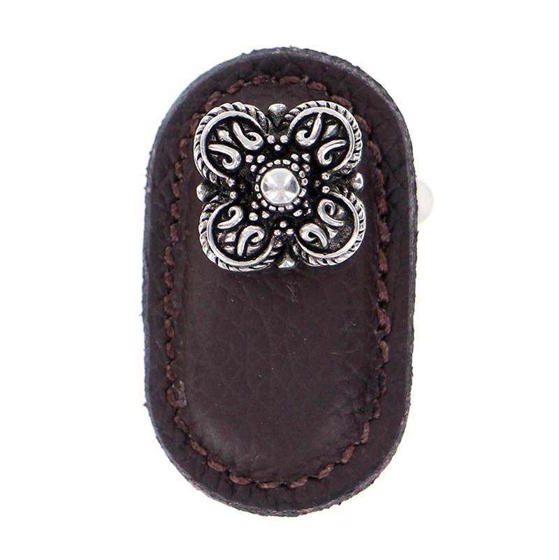 Vicenza Designs K1186 Napoli Leather Pull Antique Copper 6-Inch Brown