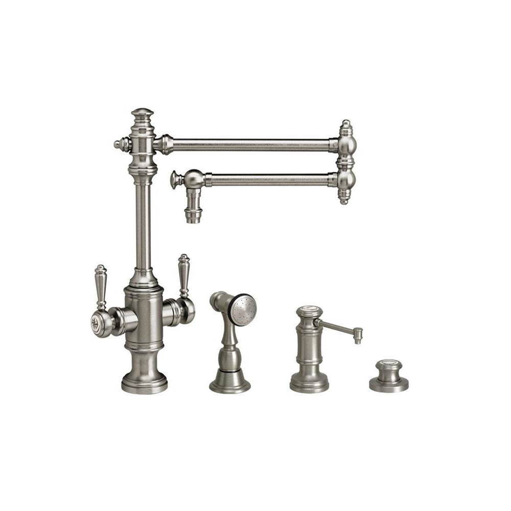 Polished Nickel Waterstone 4700-PN Towson Single Handle Prep Faucet